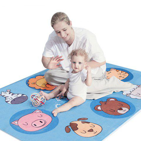 Plush Crawling Mat Cartoon Animal Pattern Cute Baby Playmat - COLORMIX