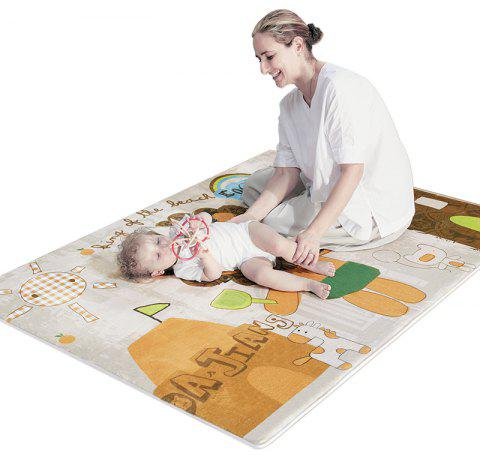 Baby Plush Playmat Cartoon Animal Pattern Crawling Mat - BROWN SUGAR