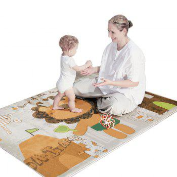 Baby Plush Playmat Cartoon Animal Pattern Crawling Mat - COLORMIX