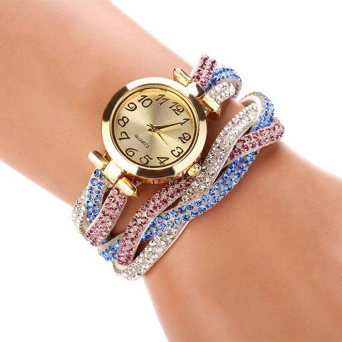 DUOYA D022 Women Full Rhinestones Analog Quartz Wrist Watch - WHITE
