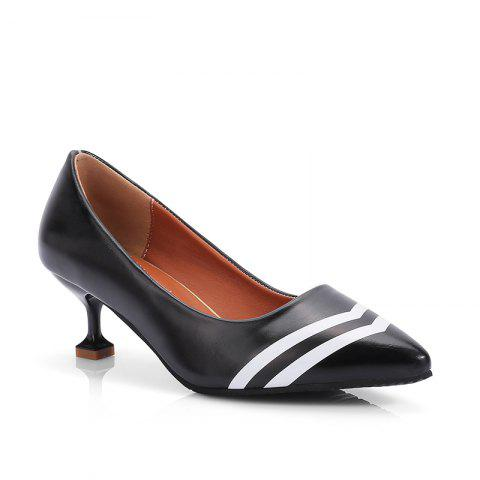 Double Color Fashionable Simple Shoes - BLACK 35