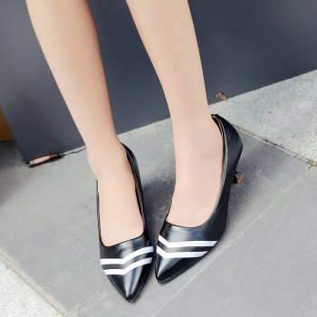 Double Color Fashionable Simple Shoes - BLACK 36