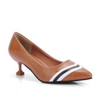 Double Color Fashionable Simple Shoes - BROWN BROWN