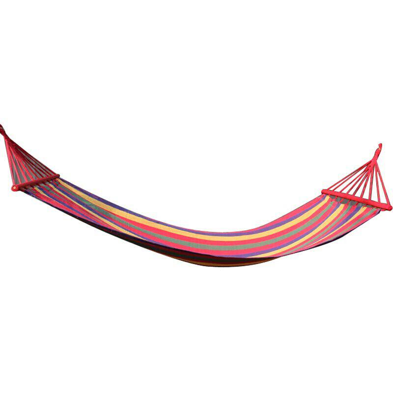 FEIRSH Outdoor Hammock With Wide and Thick Leisure Canvas Swing Camp Indoor Adult Hammock - RED