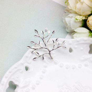 Fashion Christmas tree shapes unisex gold brooch shawl pin buckle suit accessories lover gifts - SILVER