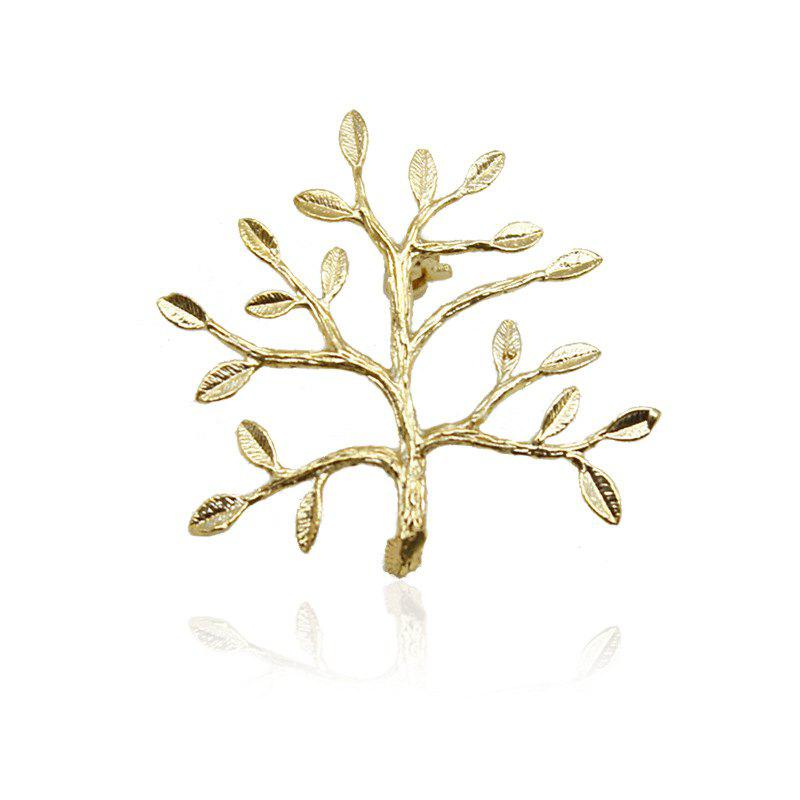 Fashion Christmas tree shapes unisex gold brooch shawl pin buckle suit accessories lover gifts - GOLDEN