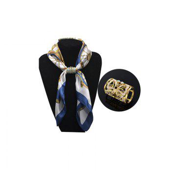 fashion nice hand-painted butterflies rhinestone  scarf tube flight attendants scarf buckle for Lady jewelry brooch - WHITE