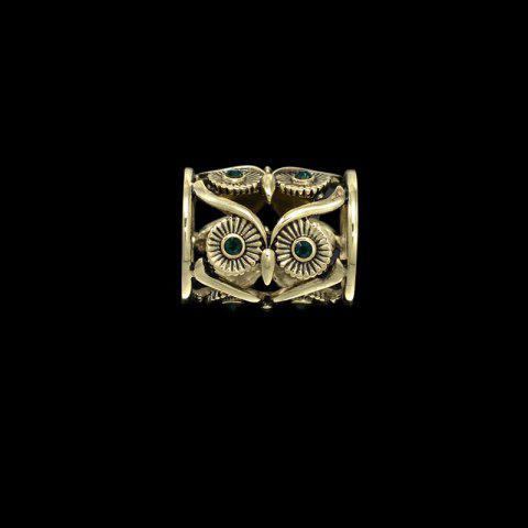 new Retro hollow OWL European fashion scarves beautifully tube scarf buckle clothing accessories for woman brooch - GOLDEN