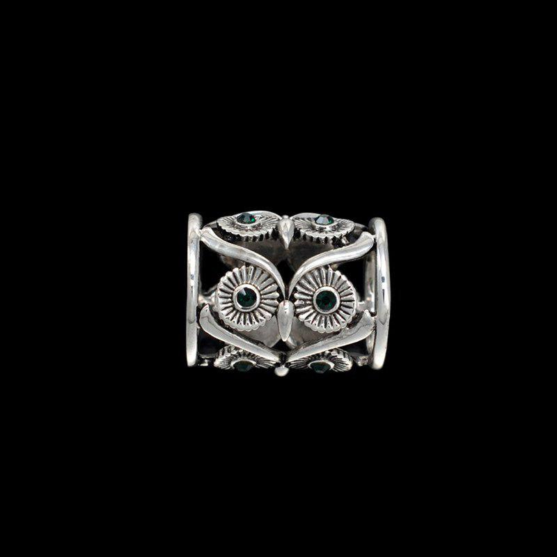 new Retro hollow OWL European fashion scarves beautifully tube scarf buckle clothing accessories for woman brooch - SILVER