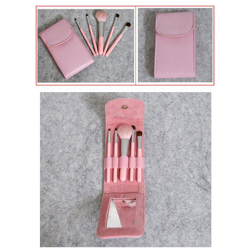 5PCS Small Personal Brush Suit Animal Hair - PINK