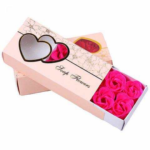 10 Pcs Soap Flowers Sweet Romantic Artificial Roses Box Packing Valentine's Day Gift - ROSE RED 16.8X7.8X4.6CM