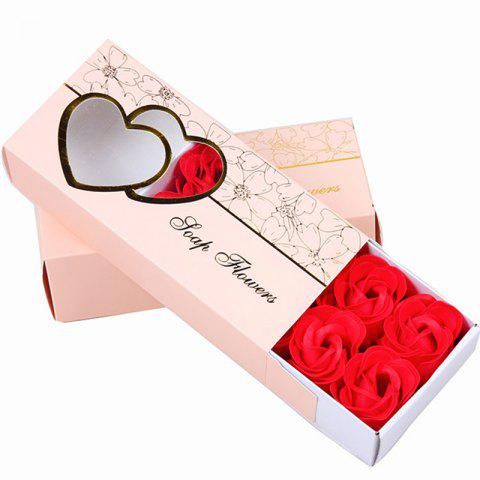 10 Pcs Soap Flowers Sweet Romantic Artificial Roses Box Packing Valentine's Day Gift - RED 16.8X7.8X4.6CM