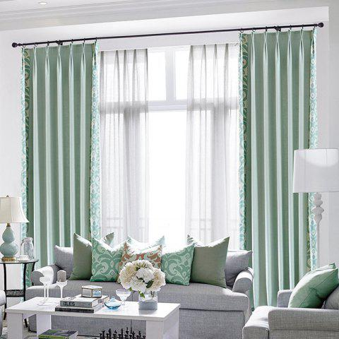 Modern Cotton Printing Blackout Window Curtains for Living Room Bedroom 5 Color - BLUE W100CM X L250CM (GROMMET TOP)