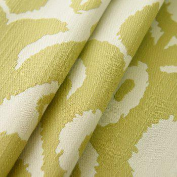 Modern Cotton Printing Blackout Window Curtains for Living Room Bedroom 5 Color - GREEN W350CM X L250CM (GROMMET TOP)