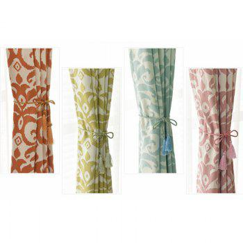 Modern Cotton Printing Blackout Window Curtains for Living Room Bedroom 5 Color - PINK W100CM X L250CM (HOOKS TOP)