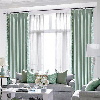 Modern Cotton Printing Blackout Window Curtains for Living Room Bedroom 5 Color - BLUE BLUE