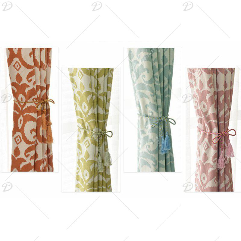 Modern Cotton Printing Blackout Window Curtains for Living Room Bedroom 5 Color - PINK W400CM X L250CM (HOOKS TOP)