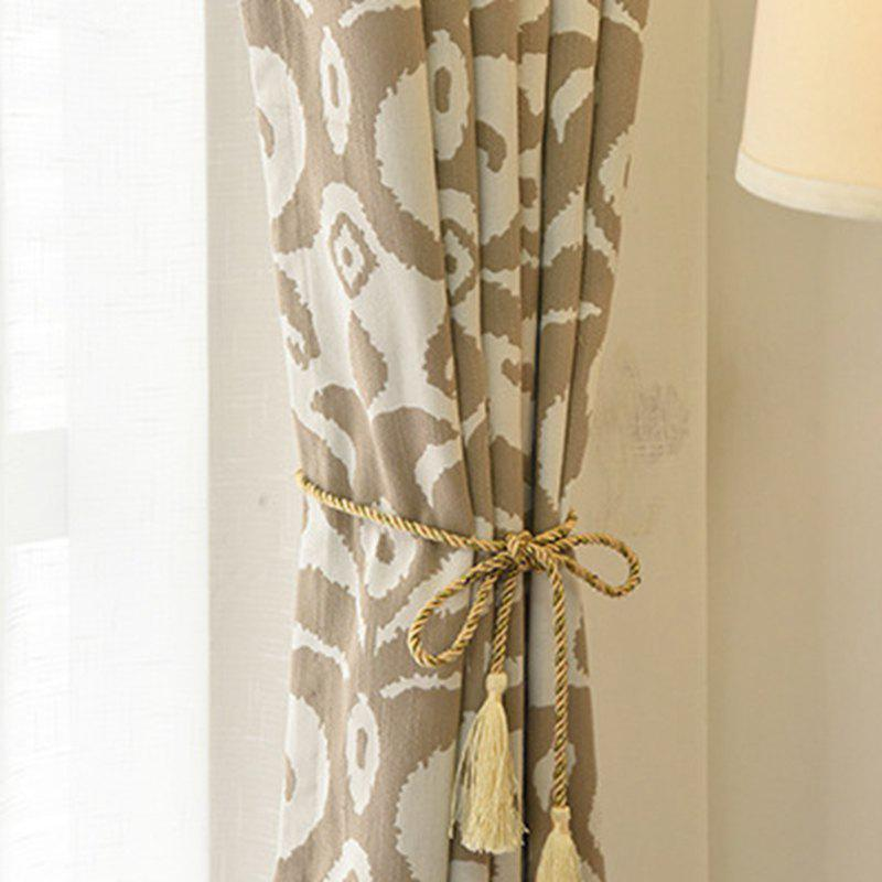Modern Cotton Printing Blackout Window Curtains for Living Room Bedroom 5 Color - COFFEE W150CM X L250CM (HOOKS TOP)