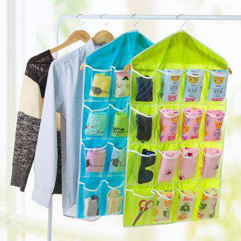 16 Lattice Polyester Baby Diaper Nappy Storage Quality Underwear Socks Dustproof Diaper Bag - BLUE