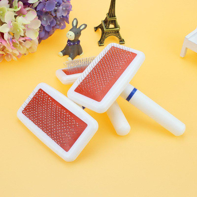 Dogs Cat Pets Dense Gilling Clean Pin Brush Hair Comb Grooming Tools White Plastic Handle Pet 249702701