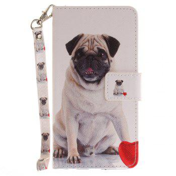 Cover Case for LG Xpower Pug PU+TPU Leather with Stand and Card Slots Magnetic Closure - WHITE