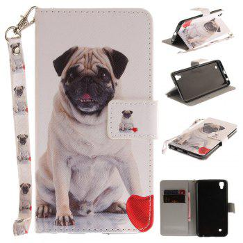 Cover Case for LG Xpower Pug PU+TPU Leather with Stand and Card Slots Magnetic Closure - WHITE WHITE