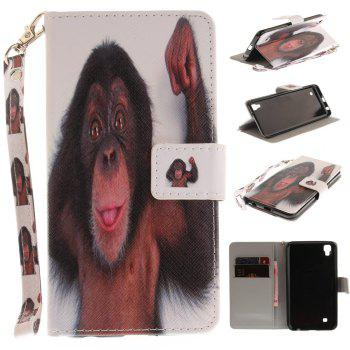 Cover Case for LG Xpower Monkey PU+TPU Leather with Stand and Card Slots Magnetic Closure - COLORMIX COLORMIX