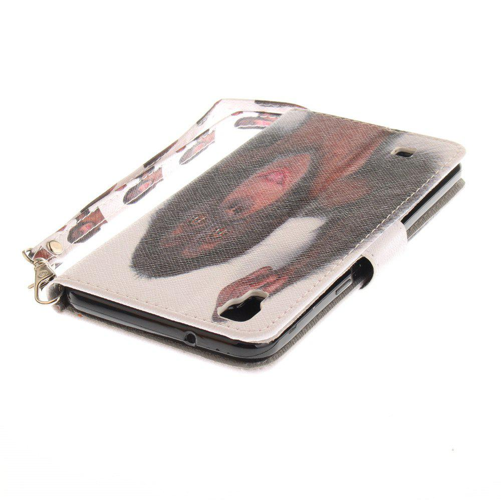 Cover Case for LG Xpower Monkey PU+TPU Leather with Stand and Card Slots Magnetic Closure - COLORMIX