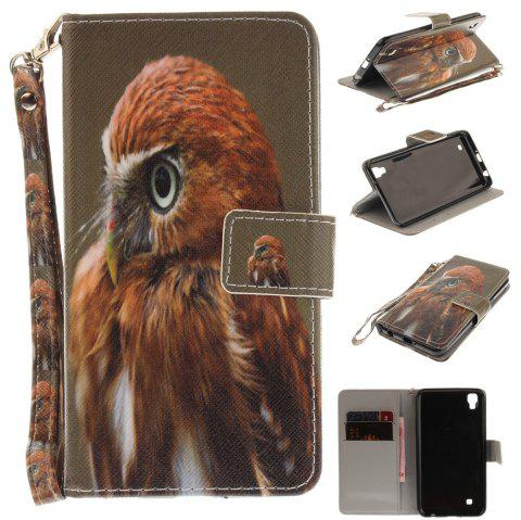 Cover Case for LG Xpower Young Eagles PU+TPU Leather with Stand and Card Slots Magnetic Closure - COLORMIX