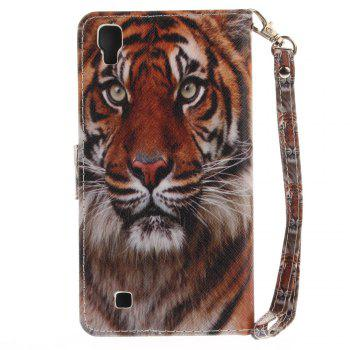 Cover Case for LG Xpower Manchurian Tiger PU+TPU Leather with Stand and Card Slots Magnetic Closure - COLORMIX