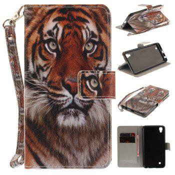 Cover Case for LG Xpower Manchurian Tiger PU+TPU Leather with Stand and Card Slots Magnetic Closure - COLORMIX COLORMIX