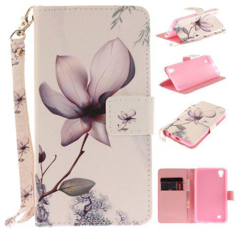 Cover Case for LG Xpower Magnolia PU+TPU Leather with Stand and Card Slots Magnetic Closure - WHITE