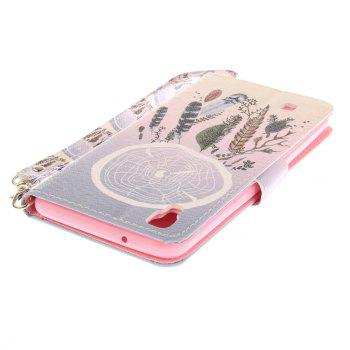 Cover Case for LG Xpower Color Bells PU+TPU Leather with Stand and Card Slots Magnetic Closure - COLOUR
