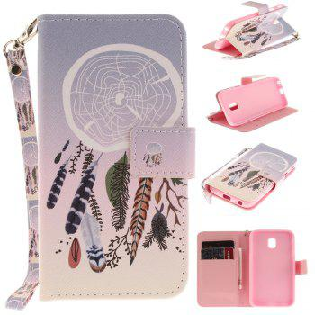 Cover Case for Samsung Galaxy J3 2017 J330 Color Bells PU+TPU Leather with Stand and Card Slots Magnetic Closure - COLOUR COLOUR