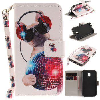 Cover Case for Samsung Galaxy J3 2017 J330 Fashion Dog PU+TPU Leather with Stand and Card Slots Magnetic Closure - COLOUR COLOUR