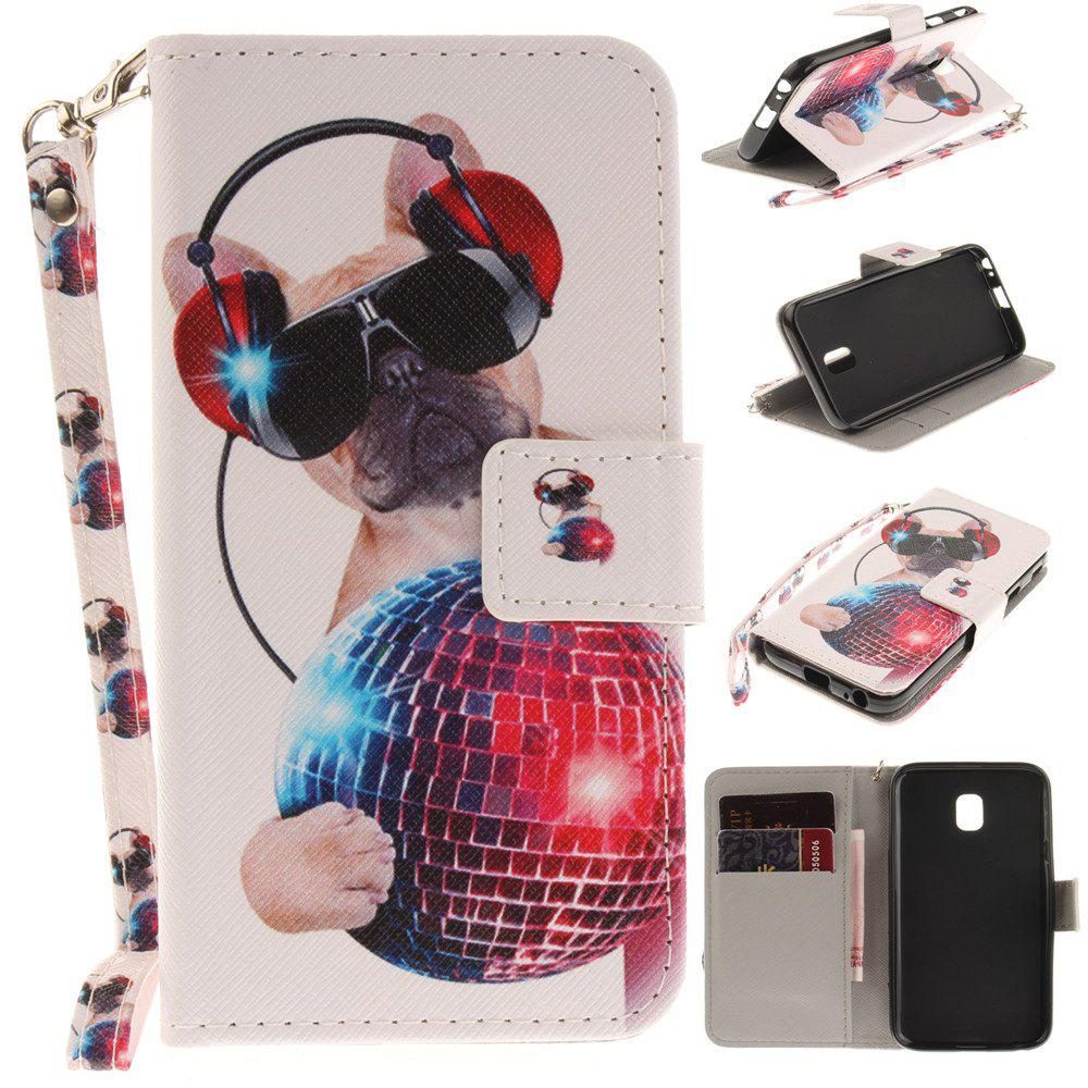 Cover Case for Samsung Galaxy J3 2017 J330 Fashion Dog PU+TPU Leather with Stand and Card Slots Magnetic Closure - COLOUR