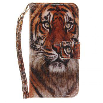 Cover Case for Samsung Galaxy J3 2017 J330 Manchurian Tiger PU+TPU Leather with Stand and Card Slots Magnetic Closure - COLORMIX