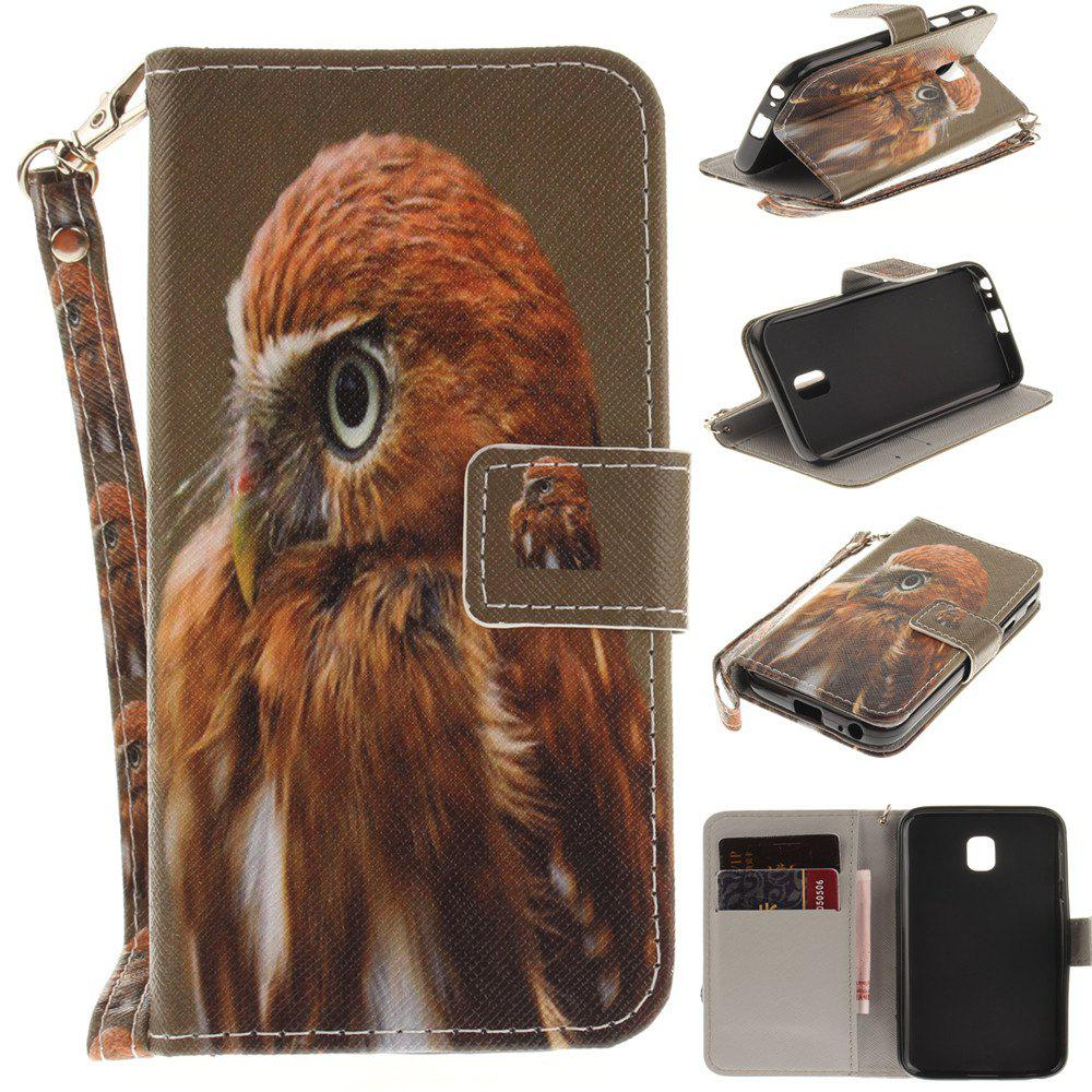 Cover Case for Samsung Galaxy J3 2017 J330 Young Eagles PU+TPU Leather with Stand and Card Slots Magnetic Closure - COLORMIX