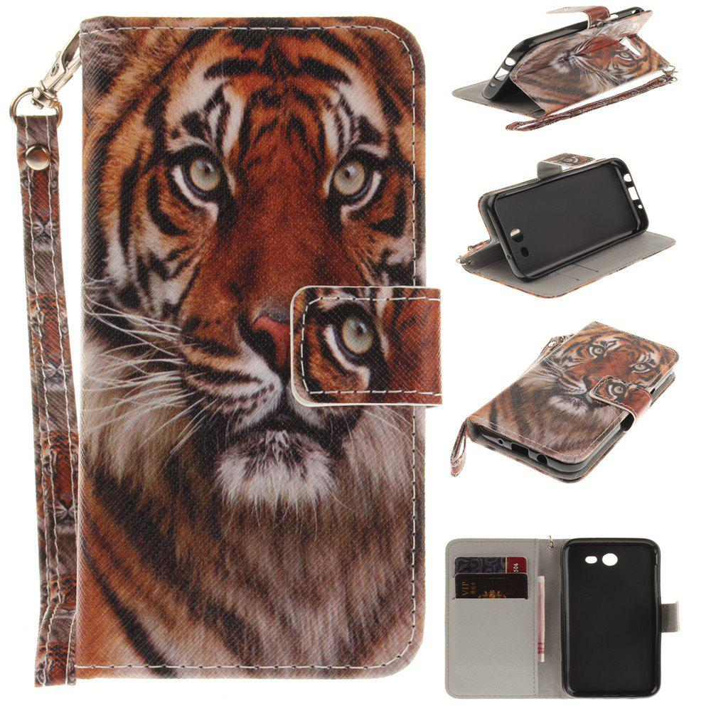 Cover Case for Samsung Galaxy J3 2017 Manchurian Tiger PU+TPU Leather with Stand and Card Slots Magnetic Closure - COLORMIX