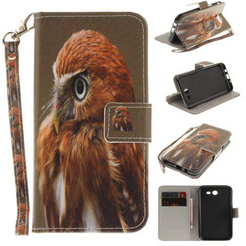 Cover Case for Samsung Galaxy J3 2017 Young Eagles PU+TPU Leather with Stand and Card Slots Magnetic Closure - COLORMIX