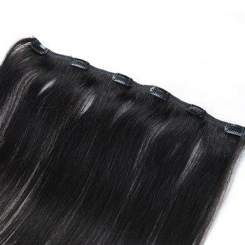 One Piece Straight Hair Secret Invisible Hairpiece Clip in Hair Extensions 6 Clip 20g 18inch - BLACK BLACK