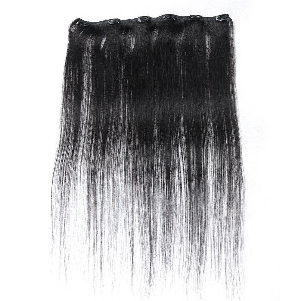 2018 One Piece Straight Hair Secret Invisible Hairpiece Clip In Hair