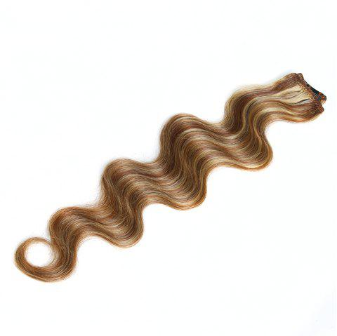 One Piece Body Wave Secret Invisible Hairpiece Clip in Hair Extensions 6 Clip 20g 18inch - P6KJ/27B/613 18INCH