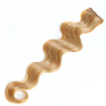 One Piece Body Wave Secret Invisible Hairpiece Clip in Hair Extensions 6 Clip 20g 18inch - P27/613# P /