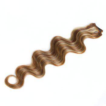 One Piece Body Wave Secret Invisible Hairpiece Clip in Hair Extensions 6 Clip 20g 18inch - P6KJ/27B/613# P KJ/ B/