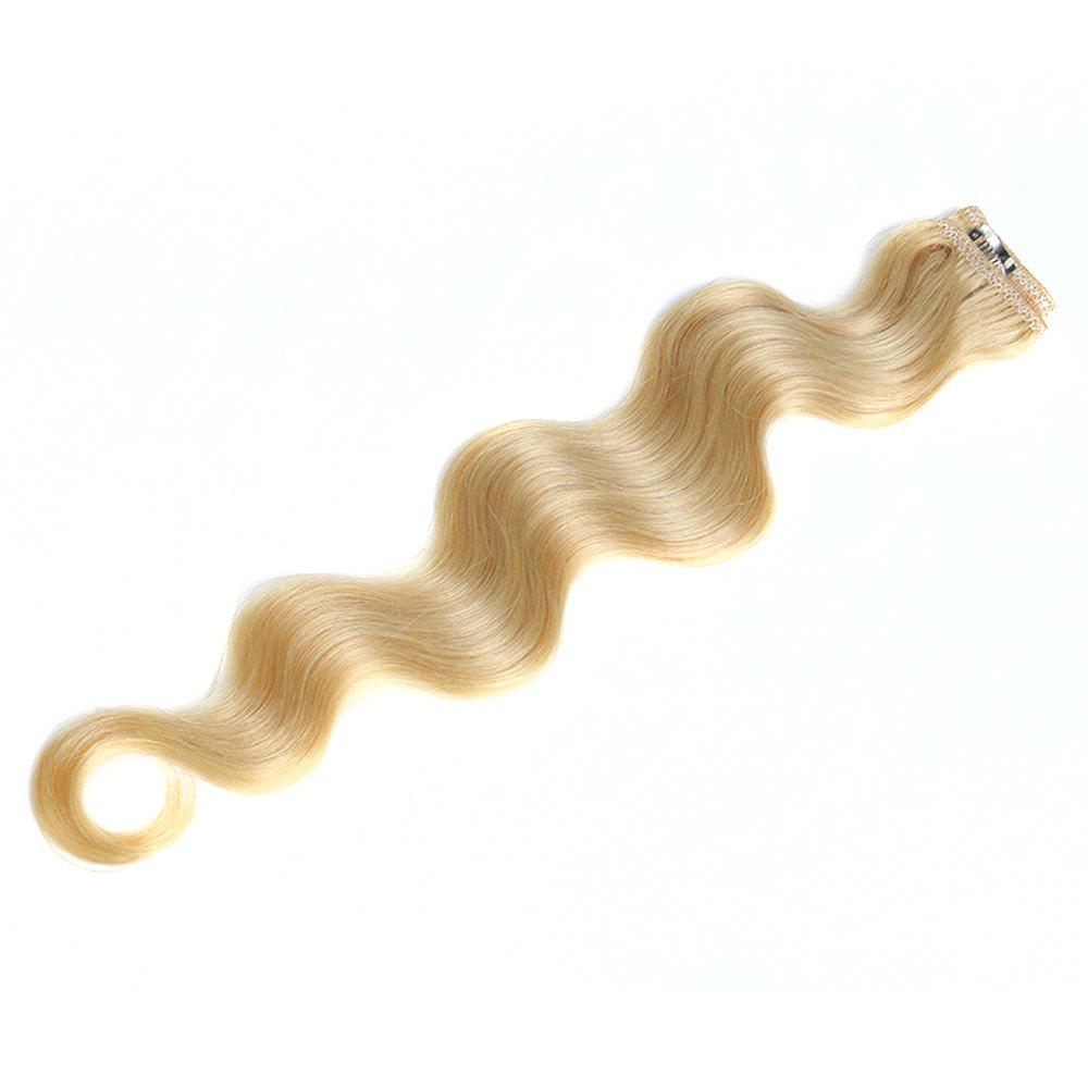 One Piece Body Wave Secret Invisible Hairpiece Clip in Hair Extensions 6 Clip 20g 18inch -  18INCH
