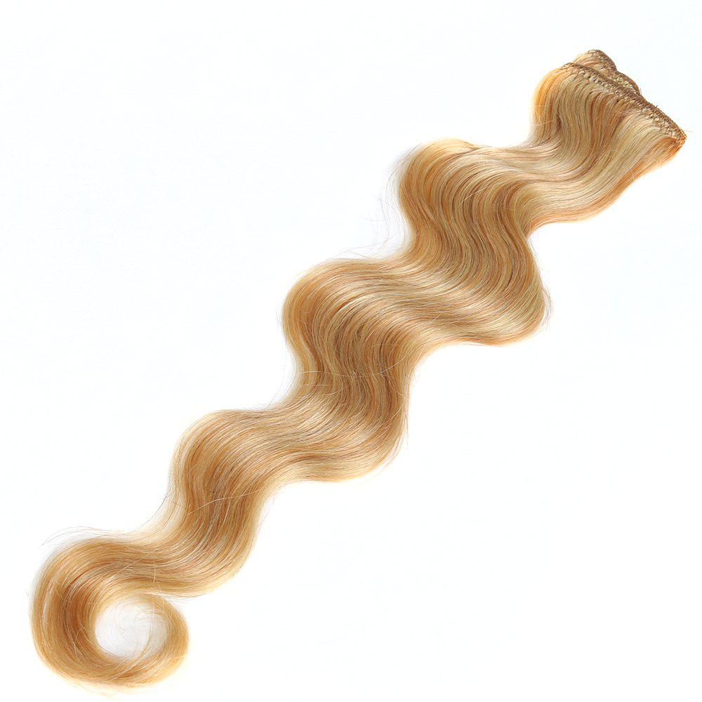 One Piece Body Wave Secret Invisible Hairpiece Clip in Hair Extensions 6 Clip 20g 18inch - P / 18INCH
