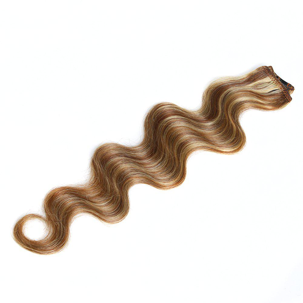 One Piece Body Wave Secret Invisible Hairpiece Clip in Hair Extensions 6 Clip 20g 18inch - P KJ/ B/ 18INCH