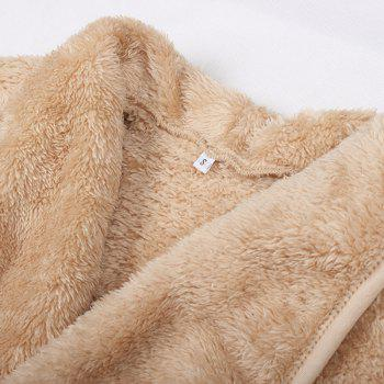 Extra Thick Warm Furry Coat - KHAKI XL