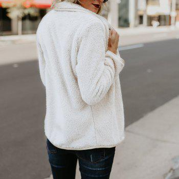 Extra Thick Warm Furry Coat - WHITE M